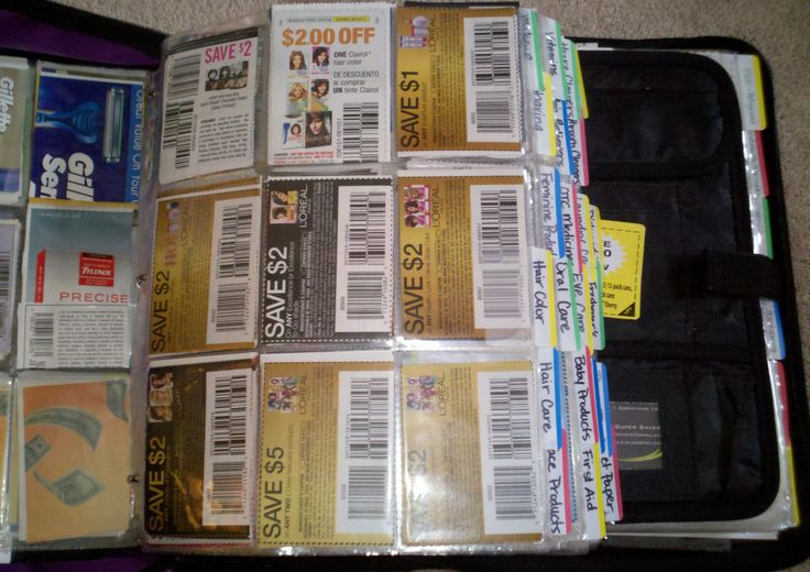 Baseball card holders for coupons