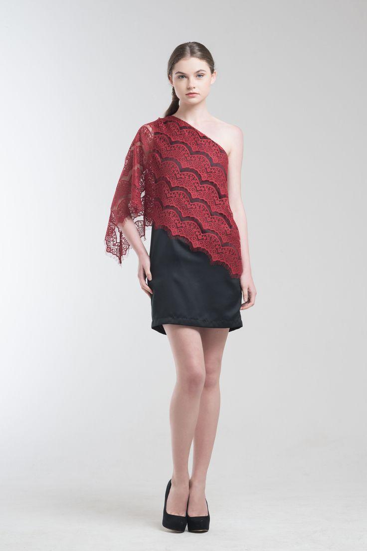 Jade Dress in Red from Jolie Clothing  #JolieClothing www.jolie-clothing.com  #Fashion #designer #jolie #Charity #foundation #World #vision #indonesia  #online #shop #stefanitan #fannytjandra #blogger