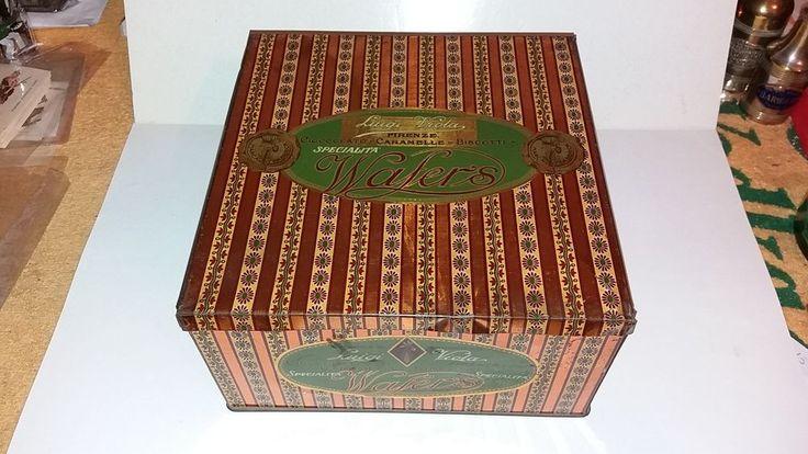 scatola latta wafers biscotti viola firenze cioccolato caramelle