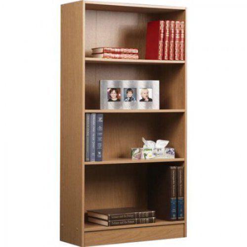 4 Shelf Wide Bookcase Bookshelves OAK finish Bookshelf Modern Organizer Storage #Orion #Modern