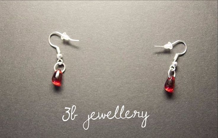 #vampire #tears #earrings go well with vampire tears pendant #3bjewellery #wirewrapping #beginner