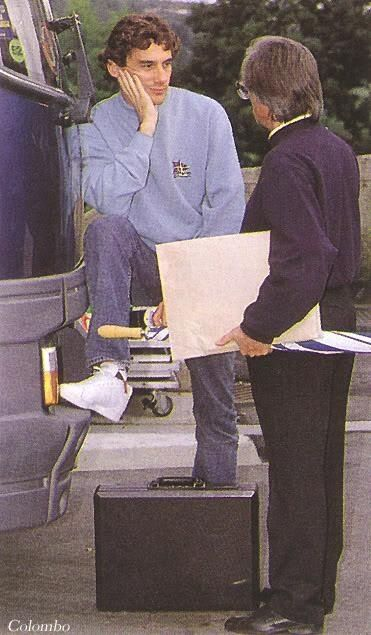 Ayrton and bernie! Would love to know what they were discussing! Ayrton looks bored and cheesed off, lol!