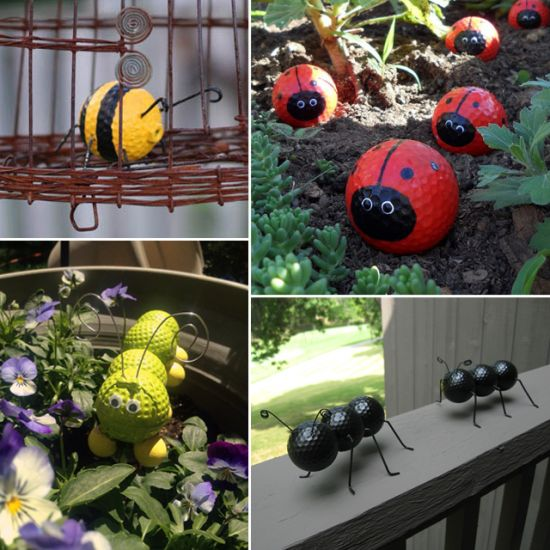 Golf Ball Ladybugs and Caterpillars