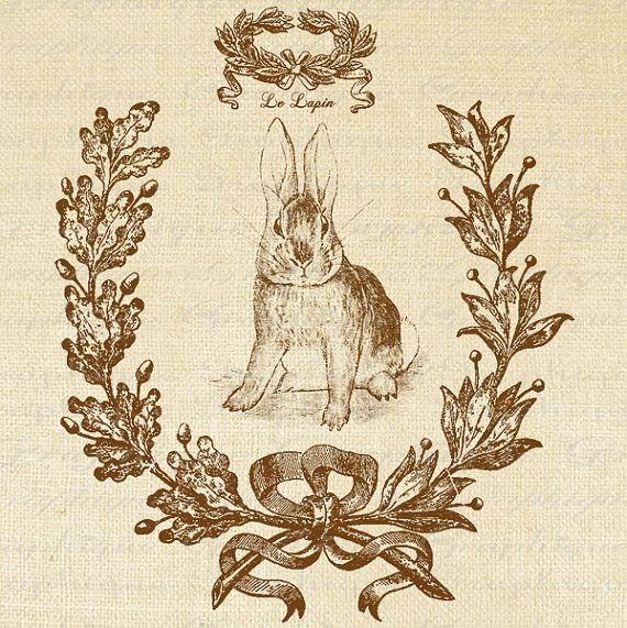 conejo arpillera sepia almohadon
