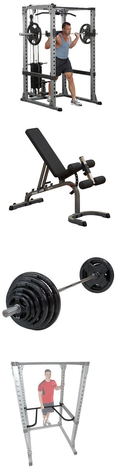 Power Racks and Smith Machines 179815: Body-Solid Package - Power Rack, Bench, Weight Set, Lat + Dip Attach, Plate Tree BUY IT NOW ONLY: $1699.0