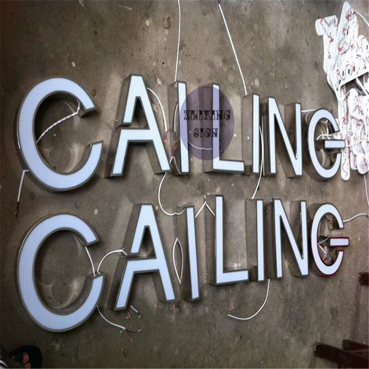 Nice Factory Outlet Outdoor Acrylic led channel lit letter sign