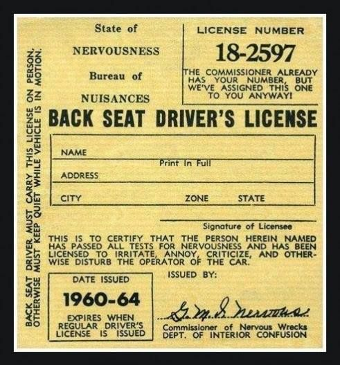 backseat license