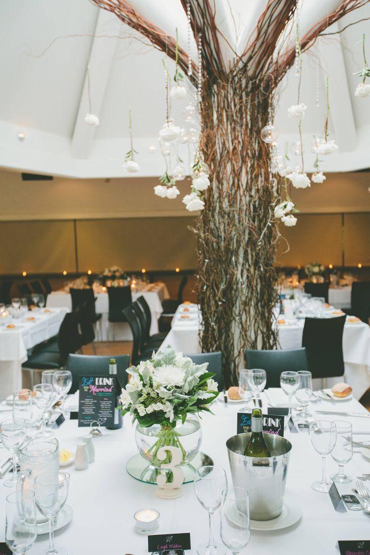 Wedding reception, wedding flowers, wedding tree.