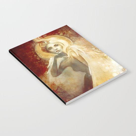 Angel Notebook, fantasy portrait     art by strijkdesign