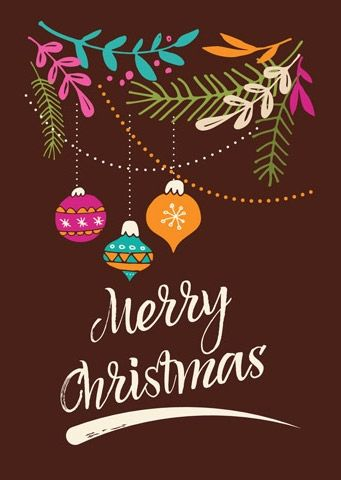 Новогодняя открытка Merry Christmas — Сервис Поштар