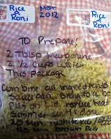 M.Y.O. Rice -A- Roni Packets  Cost just pennies and you already have all the ingredients! Make several for your pantry in less than 10 minutes!
