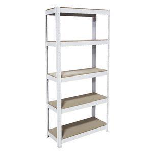 Cobalt 5 Shelf Metal Shelving Unit White