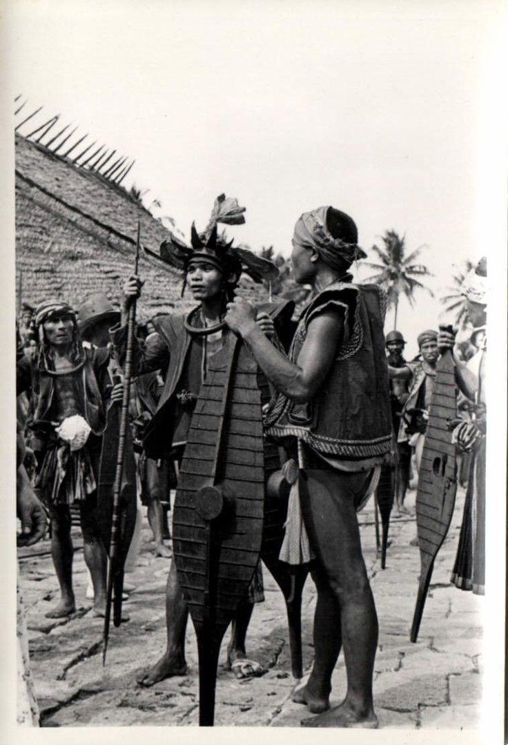 Indonesia Nias Real Photo Native Warrior Shield Spear 1930s RP 13 | eBay