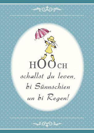 Geburtstagskarte,Plattdeutsch,Hoch
