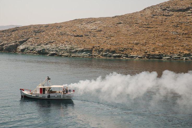 A 'taverna style' beach wedding on Kythnos | lafete