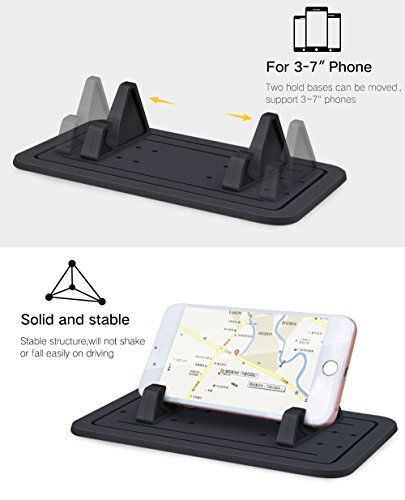 (New Silicone Pad Dash Mat & Cell Phone Car Mount Holder Cradle Dock For Any Smartphone iPhone 7/6/5/4 & (S, Plus) Galaxy S7/S6/S5/S4 edge 7 & GPS Table Holder 2 in 1 Review) Buy-Accessories.net
