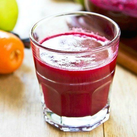 A healthy and refreshing Thermomix juice made with fresh beetroot, carrot and pear with a hint of ginger and lime. Bursting with flavour and so good for you