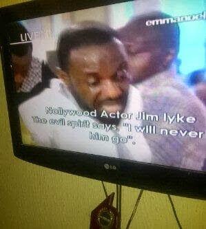 PHOTOS – Jim Iyke freed of demonic Spirits on Emmanuel TV,Jim Iyke deliver by tb joshua
