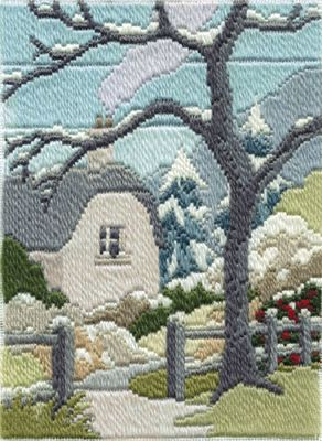 Winter Garden Longstitch Kit from Derwentwater Designs