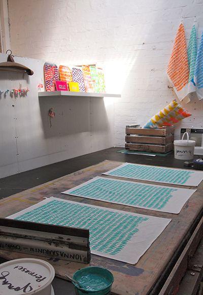 jonna saarinen- how to screen print on to fabric