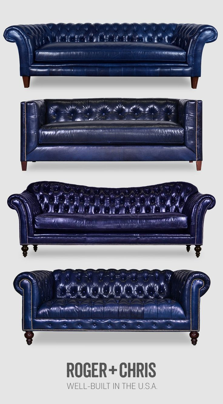 Blue Leather Sofas Blue Leather Chesterfields Blue Leather
