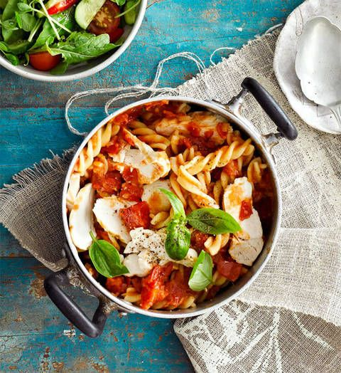 Chicken pasta arrabiata: With chicken, tomatoes and a hint of chilli, this pasta dish is packed with flavour. Buon appetito!