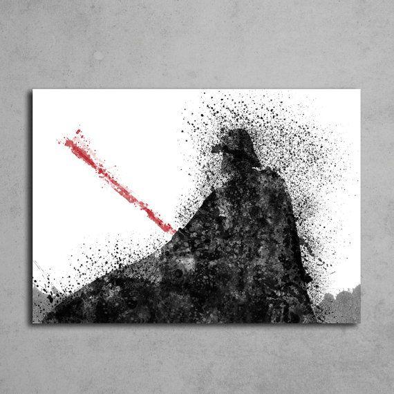 Star wars inspired Darth Vader poster Print di DamaDigitalDesign
