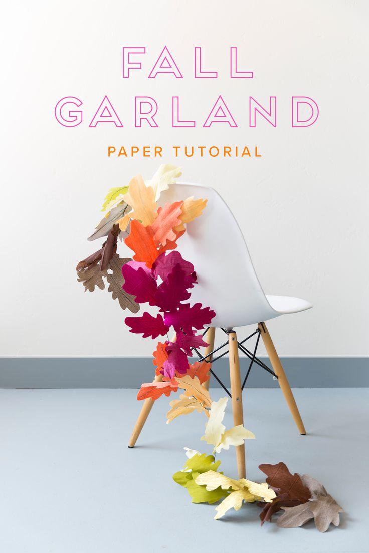 Love this cute DIY paper fall garland!