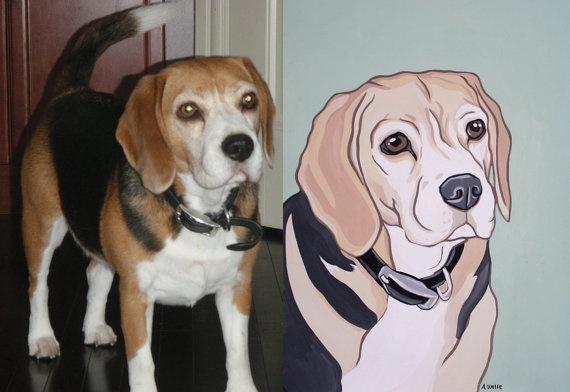 Custom pet portrait $114