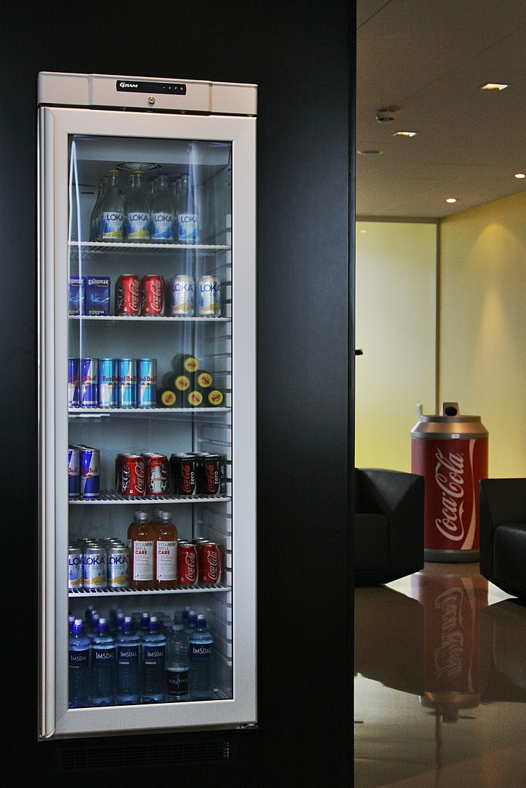 Take your pick – the fridge is packed. (And, yes, we do recycle)