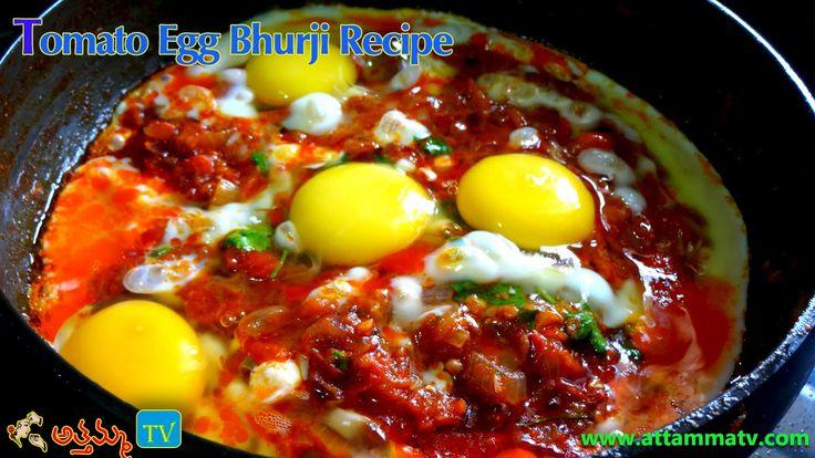 Easy and tasty Tomato Egg Bhurji Recipe in Telugu by :: Attamma TV ::