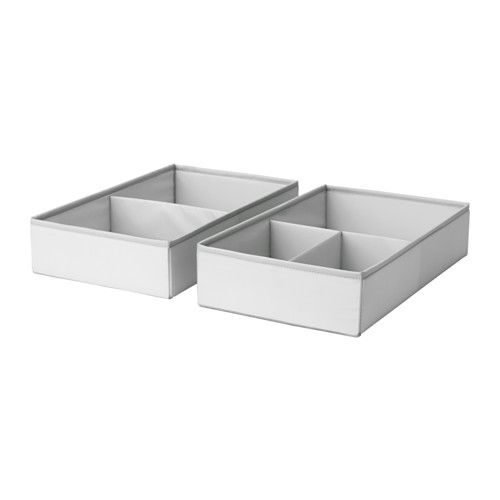 IKEA - SLÄKTING, Box with compartments, , Inside organizer for socks, underwear and other small items. Fits perfectly into the STUVA drawers.Can be folded to save space when not in use.