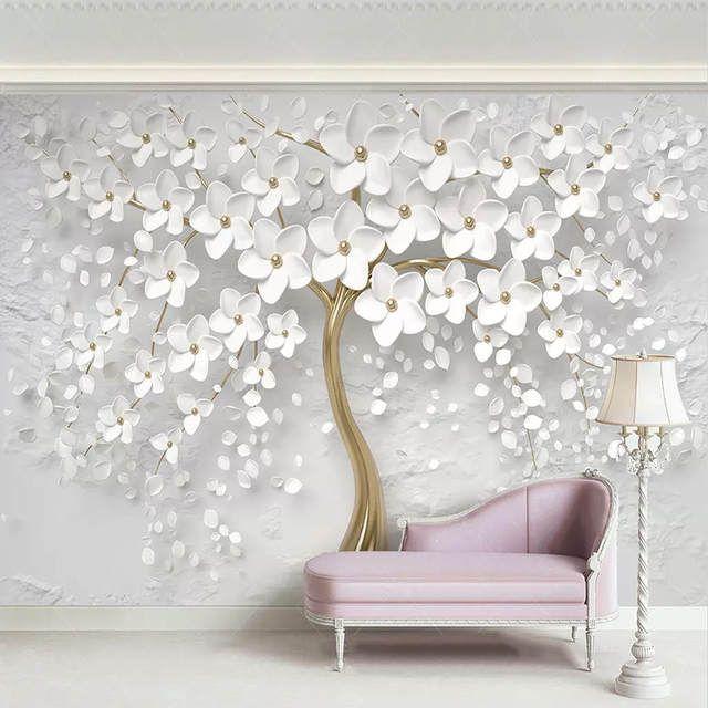 Spiksplinternieuw Custom Elke Grootte Muurschilderingen Behang 3D Stereo Witte NP-42