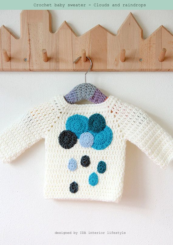ENGLISH PDF PATTERN   IDA interior lifestyle original design to create a cute little sweater for your little one, perfect for baby boys or baby girls! A…