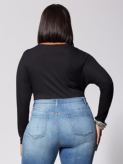 6a07bab1faf Plus Size Premium Mid-Rise Skinny Jeans - Medium Wash - Fashion To Figure