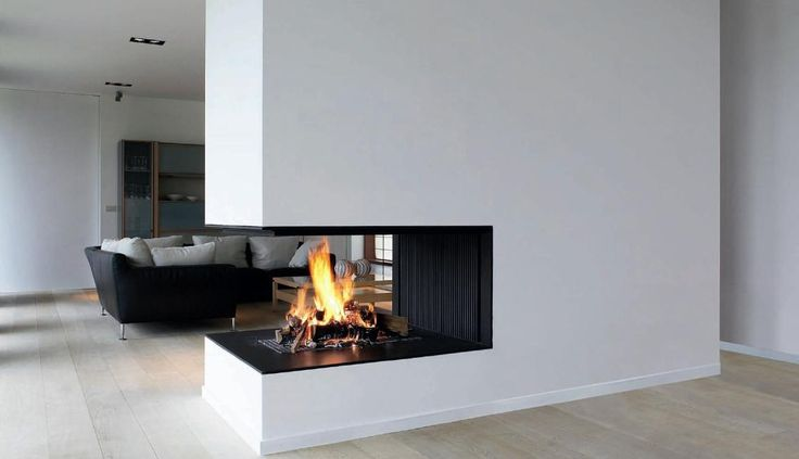 Open fireplace // Cheminée contemporaine par MetalFire // Metalfire architectural fireplace