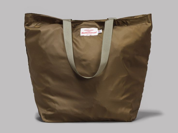 Battenwear Oi Polloi Packable Tote (Olive Ripstop / Foliage)