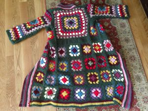 Granny square coat. Can't you just see Janis Joplin wearing this?