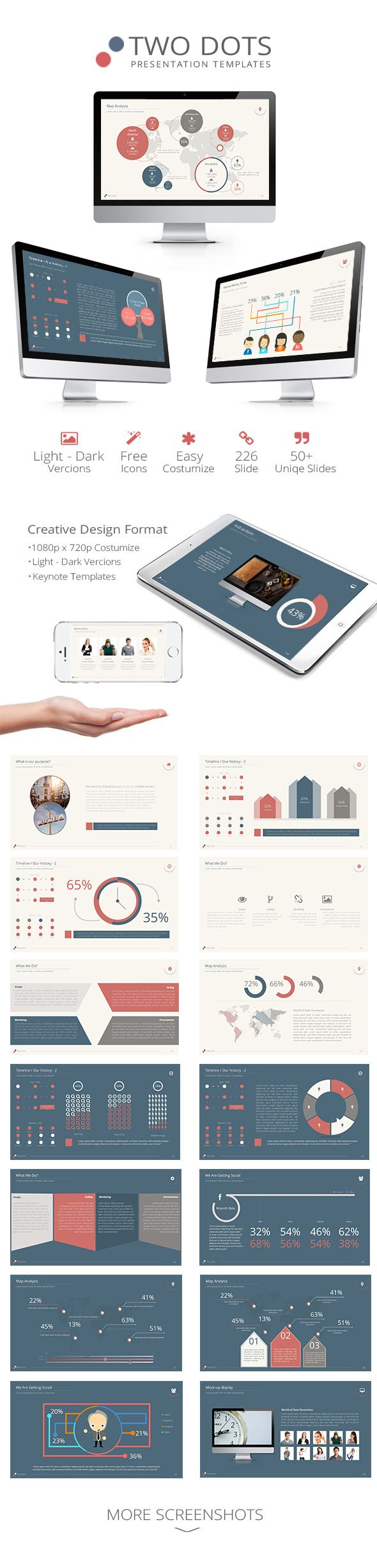Two Dots Keynote Presentation Template | Buy and Download…