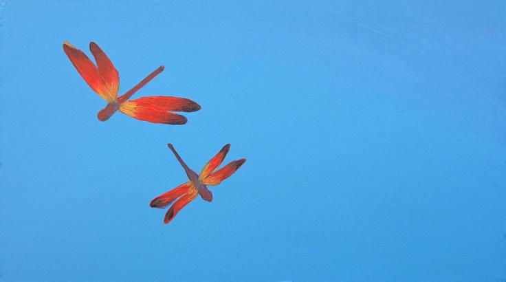 'Dragonfly Friends'Dragonflies Friends, Originals Painting