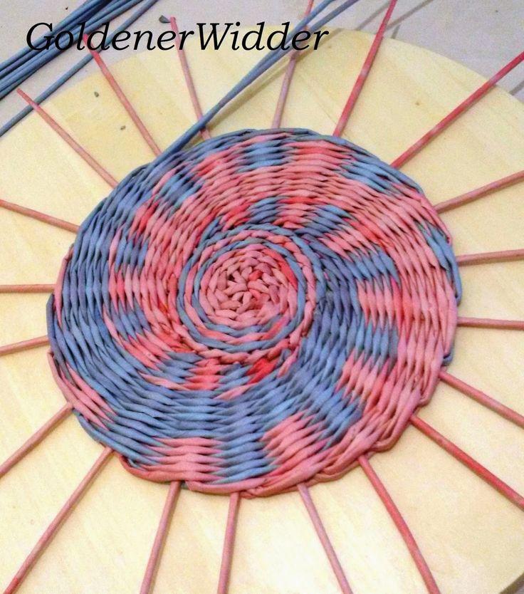 """Начало плетения. Этот способ я видела у Леночки ( Lola2000) из """"Страны Мастеров""""."""