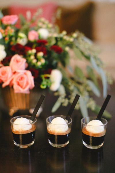 Nespresso VertuoLine espresso poured over ice cream is the perfect after dinner treat: http://www.stylemepretty.com/2014/11/17/nightcap-with-nespresso-vertuoline/