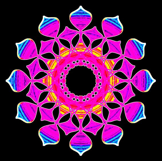 mandala - www.t-art.cz potisk, originální motiv na tričko,T-ART.CZ, mandala psychedelic art design