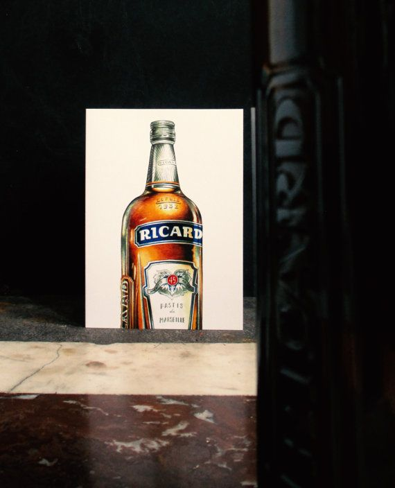 Greeting Card Ricard  Silver Envelope by TigerlilyDesignStore