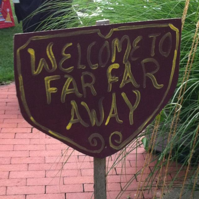 Shrek Far Far Away sign