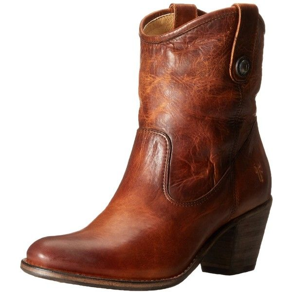 FRYE Women's Jackie Button Short Boot ($210) ❤ liked on Polyvore featuring shoes, boots, ankle booties, short boots, frye, mid heel ankle boots, button ankle boots and frye bootie