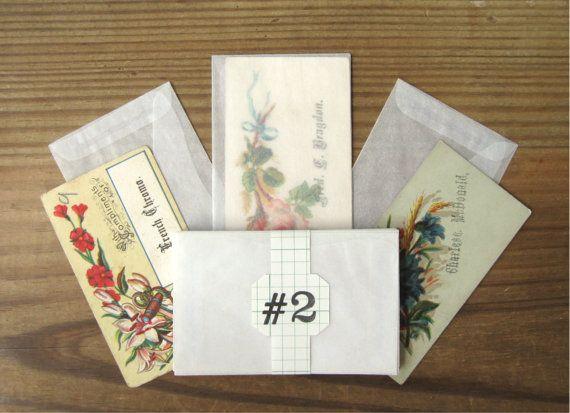 "Glassine Envelopes Size 2 Small Translucent Paper New 3-5/8x2-5/16"" (25)"
