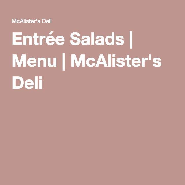 Entrée Salads | Menu | McAlister's Deli