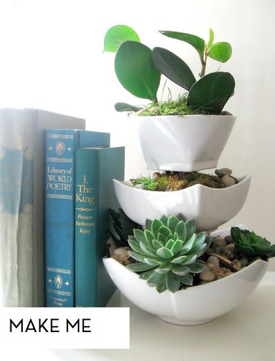 Dollar Store Tiered Planter Tutorial