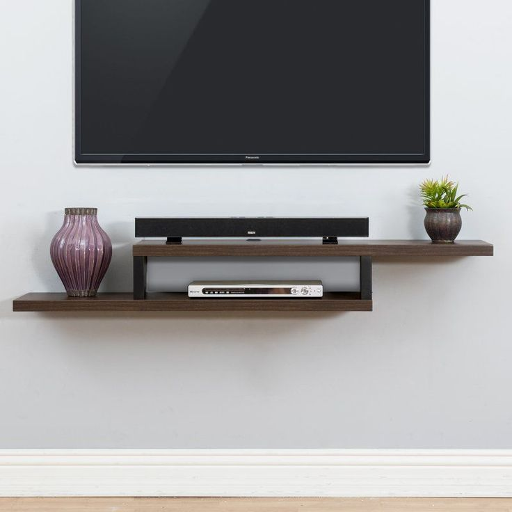 Best Tv Shelf Ideas On Pinterest Floating Tv Stand Tv Wall - Corner floating wall shelf hidden bracket wall shelving corner wall